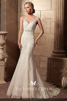 classic ivory beaded lace and satin v neckline mermaid