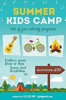 Camp Flyer Template Free Summer Kids Camp Free Psd Flyer Template Summer Camps