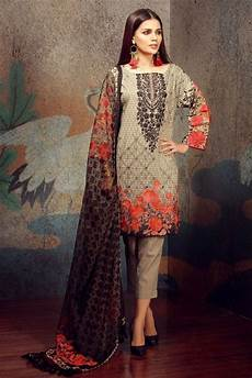 2018 Designer Collection Khaadi Tropical Escape Lawn Collection 2018 F18101 Grey