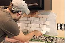 how to install kitchen backsplash tile installing a subway tile backsplash for 200 house