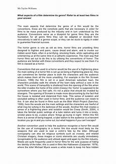 Example Of Written Essays Example Concept Of Genre Essay Written By Me