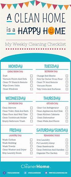 Cleaning Chart Checklist Free Printable Weekly House Cleaning Checklist The