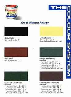 Rail Color Chart Gwr Colors Modelling Questions Help And Tips Rmweb