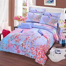 2017 classic bedding 100 cotton 1000tc luxury 3d peacock