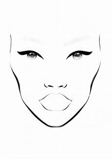Brown Face Chart Blank Natural Make Up Face Chart Design Templates In 2019