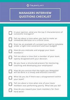 Interview Questions For Nurse Managers Top 10 Interview Questions For Managers Checklist