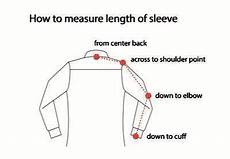 Sleeve Measurement Chart How To Measure Size Chart