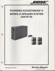 Bose Am 5p Series 3 Iii Acoustimass 5p Series 3 Iii