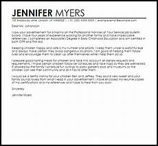 Cover Letter Examples For Nanny Position Sample Cover Letter For A Nanny Position Livecareer