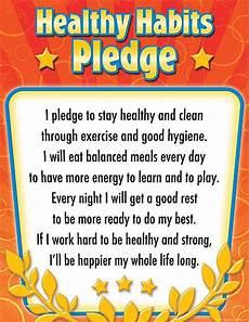 Good Eating Habits Chart Healthy Habits Pledge Chart Healthy Habits For Kids