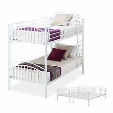 Panana 2 X 3ft Single Metal Bunk Bed 2 panana metal bunk bed 3ft single split into 2 beds for
