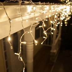 Warm White Christmas Lights Outdoor Led Christmas Lights 70 5mm Warm White Led Icicle Lights