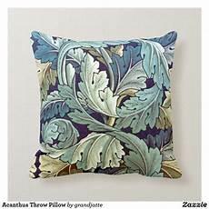 acanthus throw pillow zazzle blue throw pillows