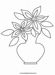 fiori da disegnare vaso con fiore disegni da colorare