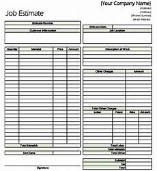 Estimating Sheet Construction Estimate Forms Pdf Cost Estimating Sheet