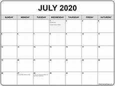 2020 Calendar Canada Collection Of July 2020 Calendars With Holidays