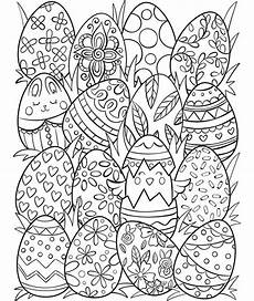 easter eggs coloring page crayola