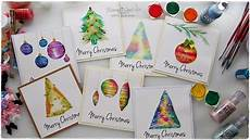 Water Color Cards 7 Watercolor Christmas Card Ideas For Beginners Maremi S