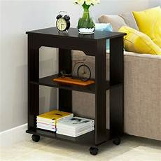 3tier modern wood square coffee end side table w storage