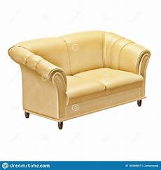 Air Sofa Yellow Blue 3d Image leather soft yellow sofa on a white background 3d stock