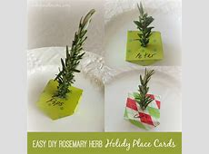 Easy DIY Holiday Dinner Place Cards Using Rosemary Twigs