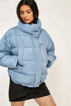Light Blue Puffer Jacket Urban Outfitters Light Before Dark Blue Pillow Puffer Jacket In 2019 Blue