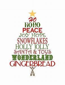 Word Christmas Card Christmas Printable Subway Art Printable Decor