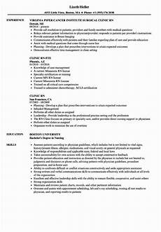 Rn Duties For Resume 25 Nursing Clinical Experience Resume In 2020 Nursing Resume