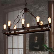 Rustic Light Fixtures Rustic 8 Light Wrought Iron Industrial Style Lighting Fixtures