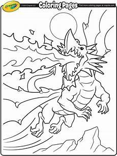 Ausmalbilder Kostenlos Ausdrucken Dragons Breathing Coloring Page Crayola