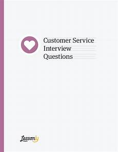 Customer Service Questions Free Customer Service Interview Questions And Answers