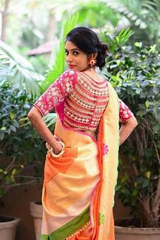 All Over Saree Design The Maharani Saree Blouse Design With Embroidery Work All