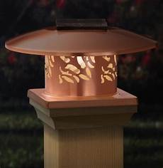 Cap Lights For Deck Copper Solar Post Cap Light Beautiful Solar Lights For