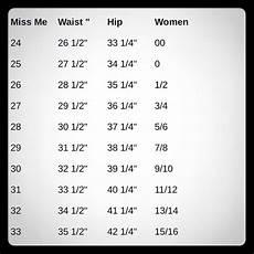 Miss Me Plus Size Chart Miss Me Jeans Size Chart Poshmark