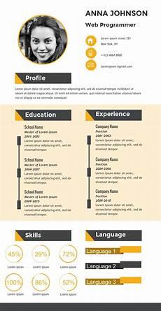 Creative Programmer Resume Web Programmer Resume Infographic Template Visme