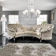 italian designer six seater curved sofa