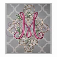 embroidery monogram adorn embroidery monogram set 3 4 a z swirly machine