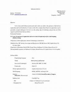 Models Of Resume Resume Model