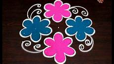 Color Kolam Designs With Dots Kolam Designs With Colors For Beginners Easy Rangoli