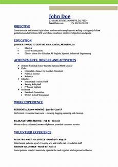 High School On Resume High School Resume Resume Templates For High School