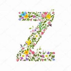 letras con flores vector letras con flores fuente de letra de las flores