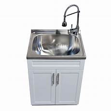 utility laundry sink with cabinet