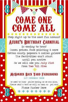 Free Invite Simplycumorah Carnival Party Behind The Scenes