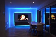 Led Light In Tv Tv Room Lit By Rgbw Leds Media Panel Project Instyle Led