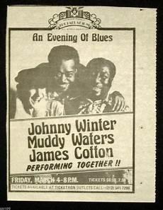 Handbill Size Johnny Winter Muddy Waters James Cotton Blues Concert