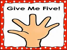 Give Me Five Rules Classroom Rules Posters Polka Dot Give Me Five