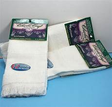 charles craft cross stitch fingertip towels set of 3 white