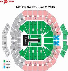 Us Bank Seating Chart Taylor Swift Taylor Swift Quot The 1989 World Tour Quot Kfc Yum Center