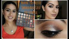 Rose Bright Lights Palette Review Smoked Rose Gold Eye Tutorial New Morphe 35o Palette