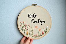 custom name embroidery hoop baby name embroidery nursery